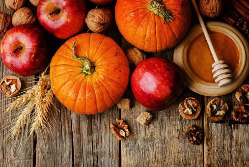 calabaza-manzanas-nueces-comidas de otoño